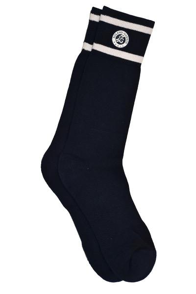 Čarape za tenis Lacoste Roland Garros Long - blue navy/white