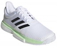Teniso batai vyrams Adidas SoleCourt Boost M - white/core black/glow green