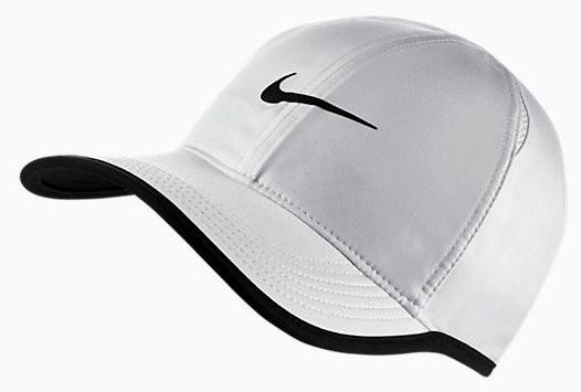 Czapka tenisowa Nike Feather Light Cap whiteblack