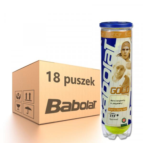 Karton piłek tenisowych Babolat Gold - 18 x 4 szt.