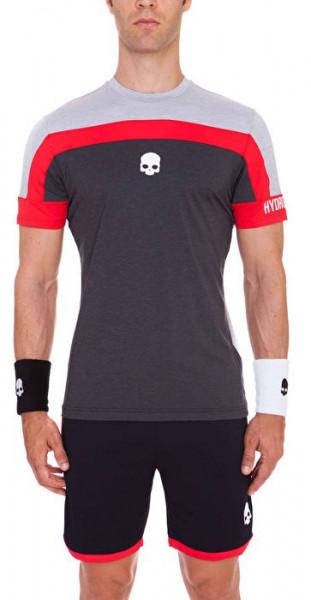 Męski T-Shirt Hydrogen Tech Skull T-Shirt - grey melange/black