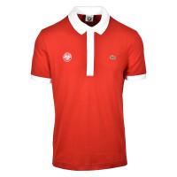 Męskie polo tenisowe Lacoste Men's Roland Garros Logo - bordeaux/white
