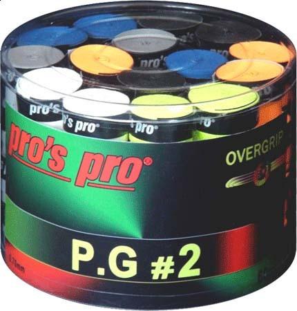 Owijki tenisowe Pro's Pro P.G. 2 (60 szt.) - color