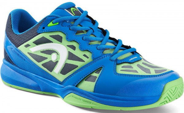 Squash shoes Head Revolt Indoor - blue/neon green