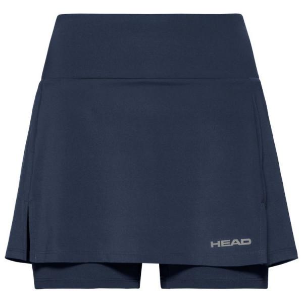 Teniso sijonas moterims Head Club Basic Skort Long W - dark blue