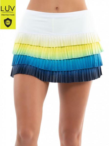 Naiste tenniseseelik Lucky in Love Luv Prints Sea Breeze Ombre Pleated Skirt Women - breeze