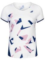 Koszulka dziewczęca Babolat Compete Cap Sleeve Top Girl - white/estate blue