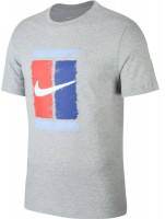 Męski T-Shirt Nike Court M Tee Court - grey heather