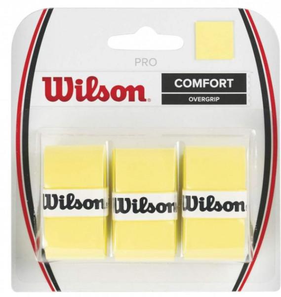Owijki tenisowe Wilson Pro 3P - yellow