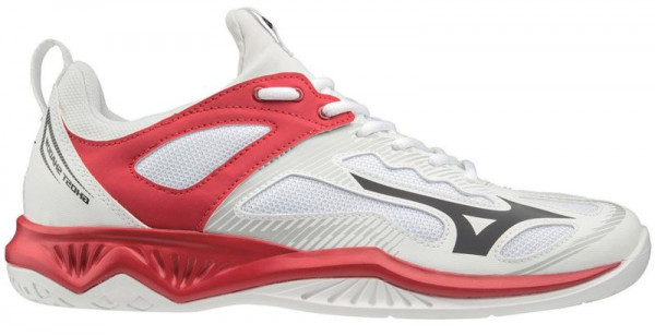 Buty do squasha Mizuno Ghost Shadow - white/black/red186c
