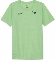 Marškinėliai berniukams Nike Court Dri-Fit Tee Rafa B - lime glow/obsidian