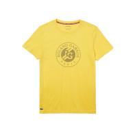 Męski T-Shirt Lacoste Roland Garros T-Shirt M - yellow