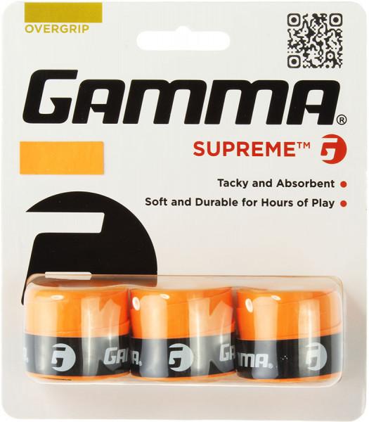 Owijki tenisowe Gamma Supreme (3 szt.) - orange