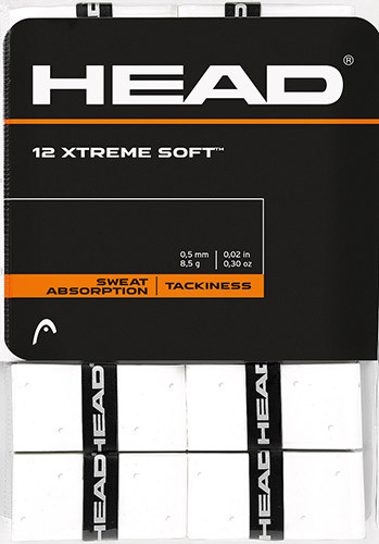 Owijki tenisowe Head Xtremesoft (12 szt.) - white