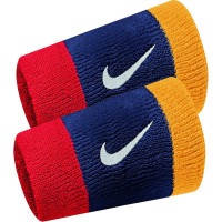 Nike Swoosh Double-Wide Wristbands - midnight navy/university red/univ