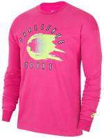 Męski T-Shirt tenisowy Nike Court Tee LS Challenge - cosmic fuchsia