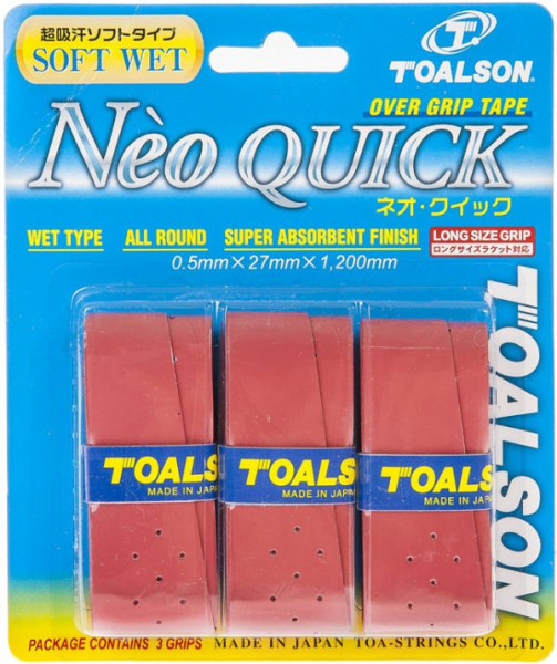 Overgrip Toalson Neo Quick (3 szt.) - red