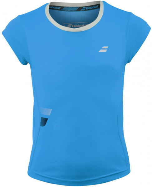 Koszulka dziewczęca Babolat Core Flag Club Tee Girl - drive blue