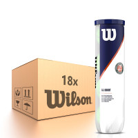 Karton piłek tenisowych Wilson Roland Garros All Court - 18 x 4B