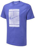 Teniso marškinėliai vyrams Nike Court Tee Seasonal Court M - dark purple dust/indigo haze
