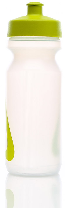 Bidon Nike Big Mouth Water Bottle 0,65L - clear/atomic green