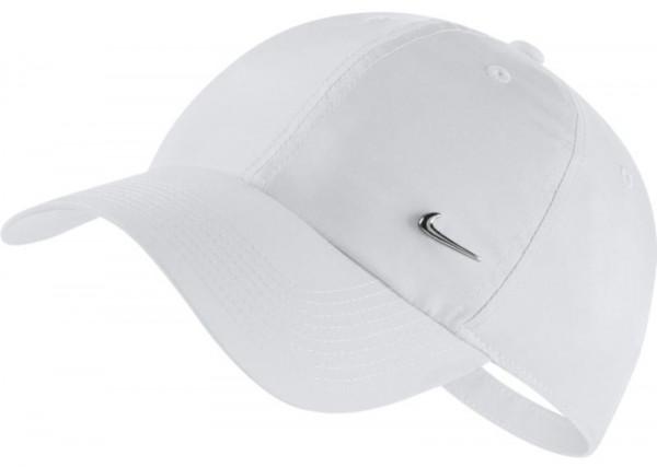Czapka tenisowa Nike H86 Metal Swoosh Cap - white/metallic silver