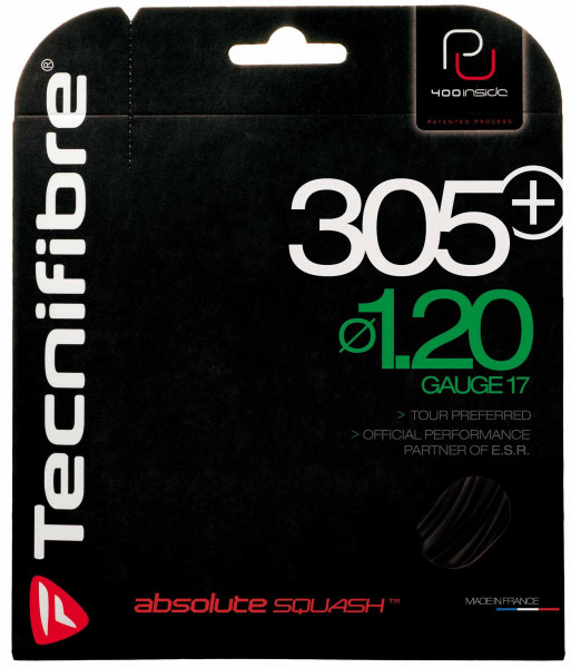 Squash strings Tecnifibre 305 Plus (9,7 m) - black