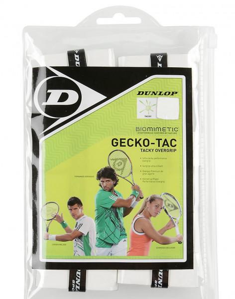 Owijki tenisowe Dunlop Gecko-Tac (30 szt.) - white