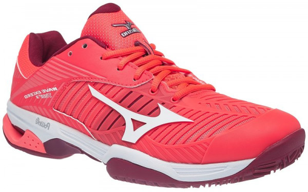 Naiste tennisetossud Mizuno Wave Exceed Tour 3 CC - fiery coral/white/beet red