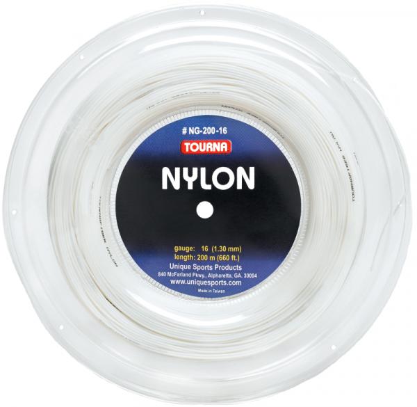 Tennisekeeled Tourna Nylon (200 m) - white