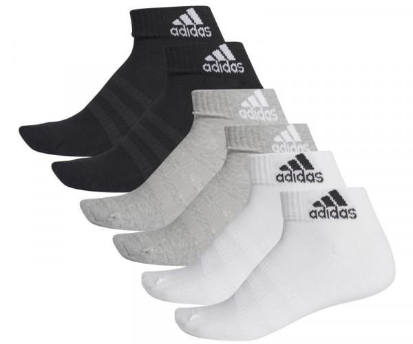 Tennisesokid  Adidas Cush ANK 6PP - black/grey/white