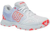 Damskie buty tenisowe Wilson Kaos Devo W - white/halogen blue/fiery coral