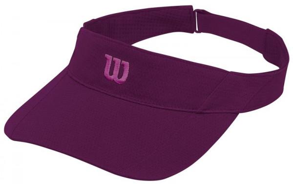 Teniso snapelis Wilson Rush Knit Visor Ultralight - dark purple/verry berry