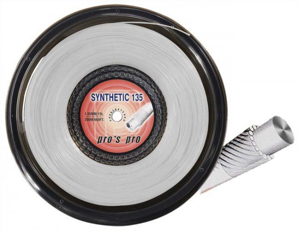 Tennis String Pro's Pro Synthetic 135 (200 m) - white