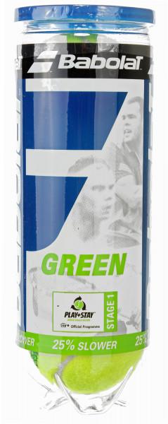 Teniso kamuoliukai pradedantiesiems Babolat Green (stage 1) - 3 vnt.