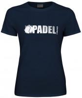 Ženska majica Head Padel Font T-Shirt W - dark blue