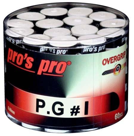 Tenisa overgripu Pro's Pro P.G. 1 60P - white