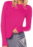 Moteriški marškinėliai Lucky in Love Core High-Low Long Sleeve Women - pink