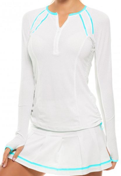 Ženska majica dugih rukava Lucky in Love Core Whites Raglan Zip L/S W - white/breeze