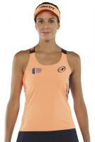 Ženska majica bez rukava Bullpadel Yali T-Shirt Woman - naranja fluor