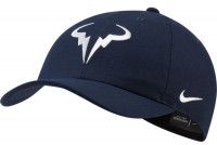 Czapka tenisowa Nike Rafa U Aerobill H86 Cap - obsidian/white