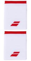 Babolat Logo Jumbo Wristband - white/tomato red