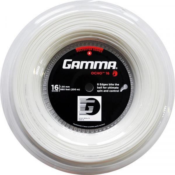 Teniska žica Gamma Ocho (200 m) - white