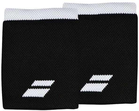 Riešo apvijos Babolat Logo Jumbo Wristband - black/white