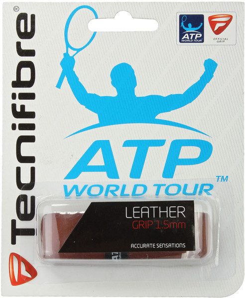 Owijki tenisowe bazowe Tecnifibre Leather brown 1P