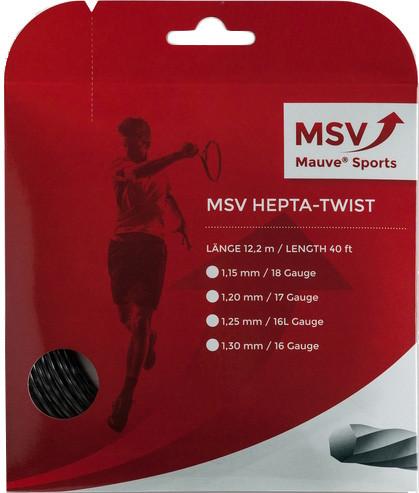 Tenisa stīgas MSV Hepta Twist (12 m) - anthracite