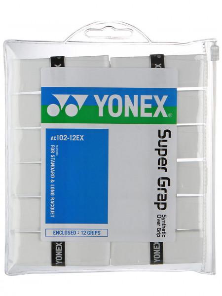 Liimlindid ülemähkimiseks Yonex Super Grap 12P - white