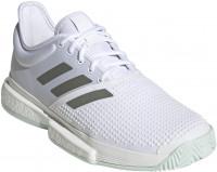 Męskie buty tenisowe Adidas SoleCourt M - cloud white/legacy green/green tint