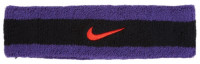 Nike Swoosh Headband - black/court purple/chile red