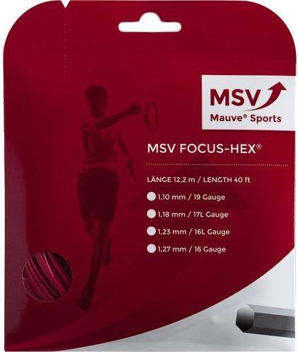 Tennis String MSV Focus Hex (12 m) - red